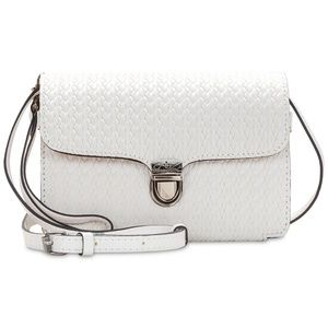 NEW! Patricia Nash Bianco Woven Leather Crossbody